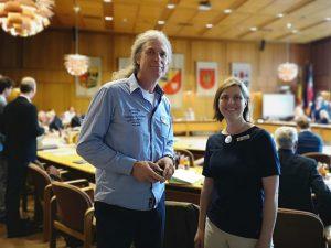 Dr. Susanne Kirchhof und Dr. Reinhard Jentzsch im Kreistag