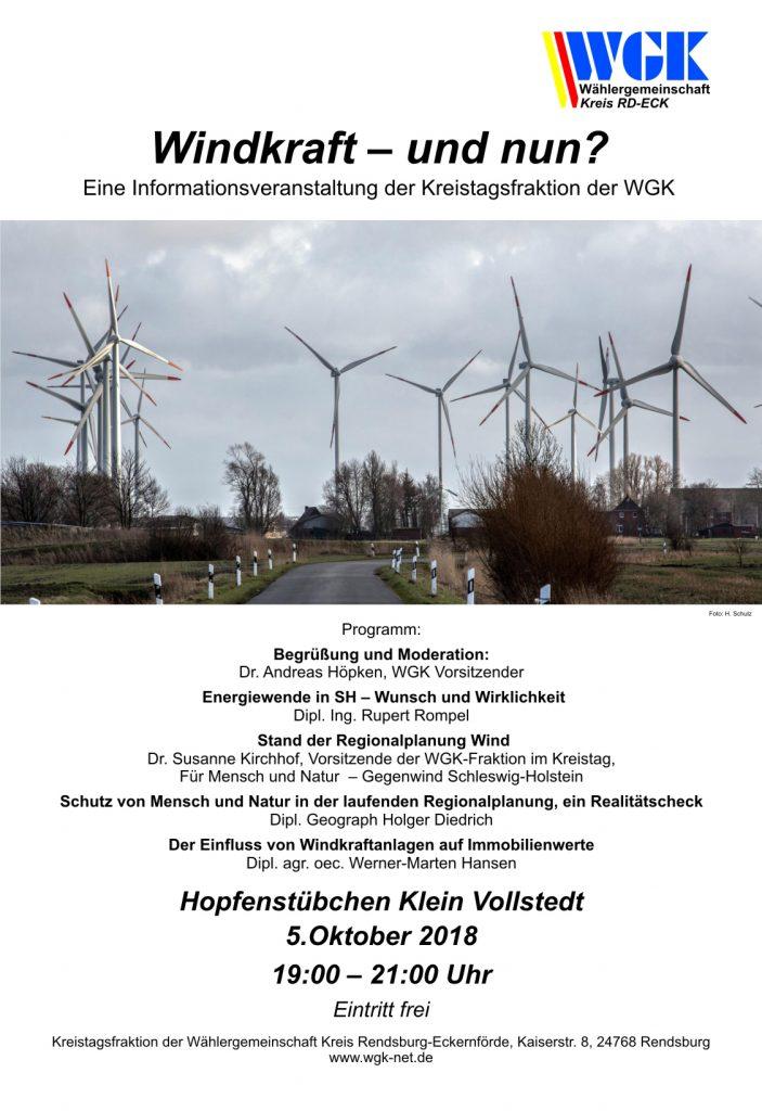 Plakat Windkeaft - und nun?